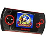 At Games GP1024 SEGA Handheld Arcade Gamer with 30 8-Bit Games Built-In, Black,