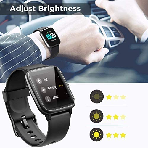 Anbes Health and Fitness Smartwatch with Heart Rate Monitor, Smart Watch for Home Fitness Tracking, Yoga, Exercise Bike, Treadmill Running, Compatible with iPhone and Android Phones for Women Men 9