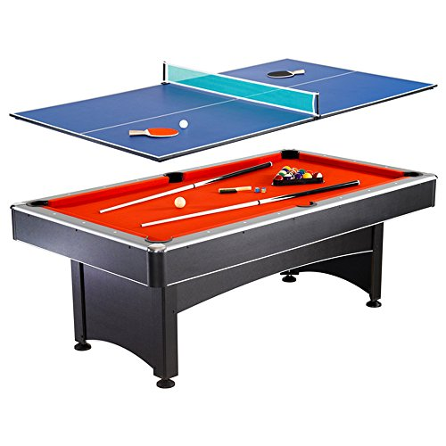 Hathaway Maverick 7-foot Pool and Table Tennis Multi Game with Red...