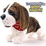 Liberty Imports Interactive Animated Walking Pet Electronic Dog Plush Sound Control Toy Puppy - Barks, Sits, Walks (Dog)