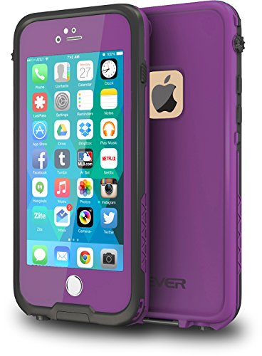CellEver iPhone 6 / 6s Case Waterproof Shockproof IP68 Certified SandProof Snowproof Full Body Protective Cover Fits Apple iPhone 6 and iPhone 6s (4.7') - Purple