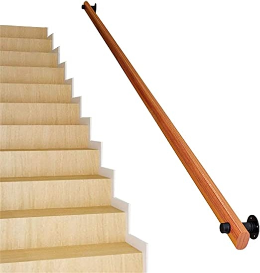 Amazon Com Modern Minimalist Staircase Handrail Solid Wood   Modern Home Stair Railings   Front Porch Stair Railing   Loft   Modern Glass Balustrade   Simple 2Nd Floor Railing Wood Stairs Iron Railing Design   Steel