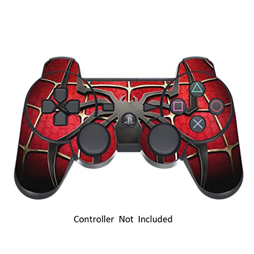 Skin Stickers for Playstation 3 Controller - Vinyl Sticker for DualShock 3 Wireless Game Controllers - Protectors Controller Decal - Spider-Man [ Controller Not Included ]