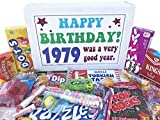 Woodstock Candy ~ 1979 40th Birthday Gift Box of Nostalgic Vintage Candy Assortment from Childhood for 40 Year Old Man or Woman Born 1979 Jr
