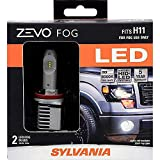 SYLVANIA - H11 ZEVO FOG LED - Premium Quality Fog Lights, Bright White LED Light Output, Matches HID & LED Headlight Lighting Systems, Added Style & Performance (Contains 2 Bulbs)