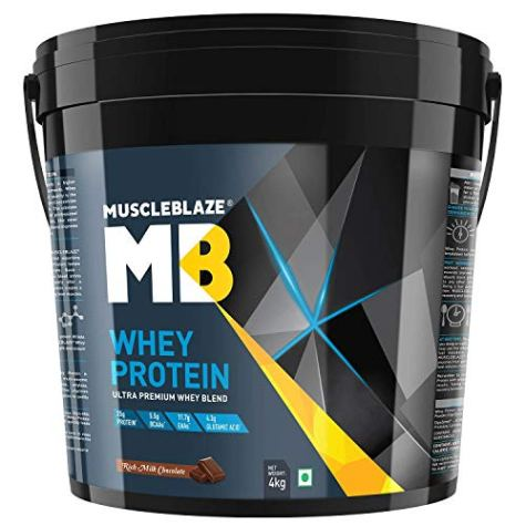 MuscleBlaze Whey Protein with 60 Tabs MB Vite, 8.8 lb Rich Milk Chocolate