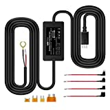 Vantrue 10ft Mini USB 12V-24V to 5V Dash Cam Hardwire Kit with Mini/ACS/ATO/Micro2 Add a Circuit Fuse Holders, Low Voltage Protection for Mini USB Dash Cams, GPS Navigator, Radar Detectors
