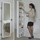 Cabidor Deluxe | Mirrored | Behind The Door | Adjustable | Medicine, Bathroom, & Kitchen Storage Cabinet
