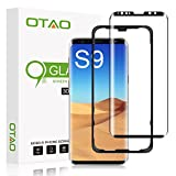 OTAO Galaxy S9 Screen Protector Tempered Glass, [Update Version] 3D Curved Dot Matrix [Full Screen Coverage] Glass Screen Protector(5.8') with Installation Tray [Case Friendly] for Samsung Galaxy S9