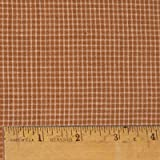 Pumpkin Spice 1 Autumn Homespun Cotton Plaid Fabric by JCS - Sold by The Yard