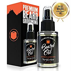 Wild Willies Beard Oil for Men. Made with 10 Natural Conditioner Ingredients & Organic Essential Oils. Promotes Fast Growth, Restores Moisture & Delivers a Deep Softener Treatment. 2oz Bottle  Image