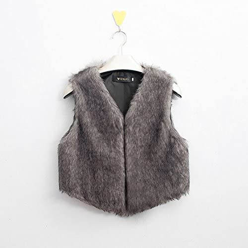 51JQqeqCTFL. AC  - MNLOS Chaleco de Piel sintética para Mujer Chaleco sin Mangas Fuzzy Fleece Jacket Abrigo Ligero de otoño cálido #Amazon