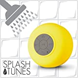 Splash Tunes Pro Shower Speaker - Ultimate Shower Speaker That is Portable, Hands Free, Wireless, Water Resistant, with Built-in Mic and Suction Cup (Royal Blue)
