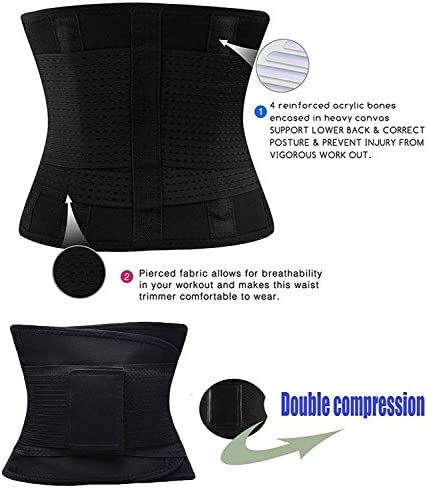 VENUZOR Waist Trainer Belt for Women - Waist Cincher Trimmer - Slimming Body Shaper Belt - Sport Girdle Belt (UP Graded) 8