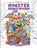Monster Doodles Invasion: A Cute Coloring Book for Adults and Kids (Coloring Gifts for Women, Boys and Girls)
