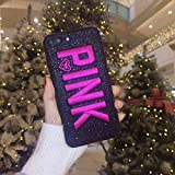 OTADO Girl Cute Pink VS Victoria Soft Case for iPhone 8 8Plus 7 7Plus 6 6Plus 6s Plus X Xs Max XR Phone Cover Secret Case Coque Hull - (Color: Fabric Pink Black, Material: for iPhone Xs MAX)