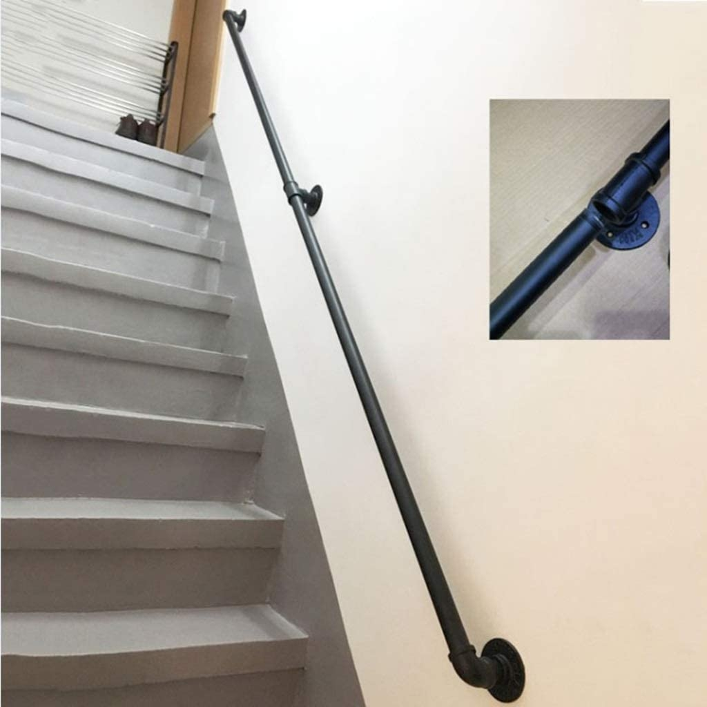 Amazon Com Cmmc Handrail Complete Kit 1Ft 20Ft Professional   Rustic Wrought Iron Stair Railings   Simple   House   Cabin   Iron Baluster   Contemporary