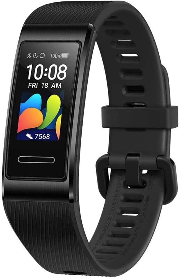 Huawei Band 4 Pro - Smart Band Fitness Tracker with 0.95 Inch AMOLED Touchscreen, 24/7 Heart Rate Monitor, Indoor Outdoor Pro Tracking, Sleep Monitor, Built-in GPS, 5ATM Waterproof