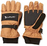 Carhartt Men's W.p. Waterproof Insulated Work Glove, Brown/black Large
