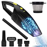 Maiphee Rechargeable Cordless Handheld Vacuum, Powerful Car Hand Vacuum Cleaner, 2200mAh Lithium Battery Portable Vacuum for Cars, Home and Office Wet/Dry Cleaning (12V 120W)