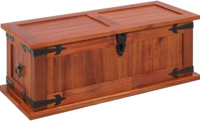Canditree Vintage Storage Trunk Solid Acacia Wood