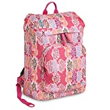 J World New York Eve Laptop Backpack, Pink Forest