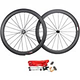 Road Bike Wheel set 50mm Clincher Carbon Fiber Matte 25mm Width For Shimano or Sram 10/11 Speed 700C Wheels