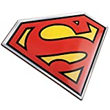 Fan Emblems Superman Logo Car Decal, Lensed Chrome, Black, Red, and Yellow