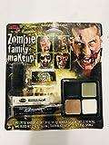 Fun World Unisex-Adult's Zombie Family Makeup Accessory Kit, Multi, Standard