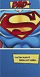 Hallmark Medium Slim Dad Contemporary Superman Foil Birthday Card