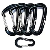 WAPAG Carabiner Clip, 12KN Carabiners Heavy Duty, 7075 Aluminum Caribeaners, Small Carabiner for Sports & Outdoors, Hammock, Camping, Hiking, Key
