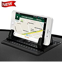 Cell Phone Holder for Car - FITFORT Universal Silicone Anti-Slip Car Phone Mount GPS Holder Mounting in Vehicles Pickup Compatible Phone X 8 7 Plus, Note 8 Galaxy S9 S8Plus
