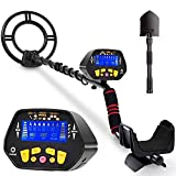 RM RICOMAX Metal Detector for Adults & Kids - High-Accuracy Metal Detector Waterproof LCD Display [Pinpoint Function & Discrimination Mode & Distinctive Audio Prompt] 10 Inch Waterproof Search Coil