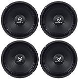 (4) Rockville RM88PRO 8' 8 Ohm 1200 Watt SPL Midrange/Mid-Bass Car Speakers