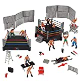 Ultimate 32-Piece Wrestling Playset for Kids | WWE Wrestler Warriors Toys with Ring & Realistic Accessories | Fun Miniature Fighting Action Figures | Includes 2 Rings | Idea