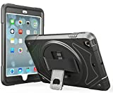 moona Apple iPad 2 3 4 and Retina Case, Hybrid Full Body 3 Layer Armor Protective ShockProof iPad Case Cover with Hand Grip and Rotating KickStand
