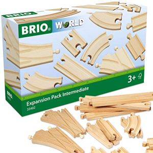 BRIO World 33402 Expansion Pack Intermediate | Wooden Train Tracks for Kids Age 3 and Up 51JnG2M8n8L