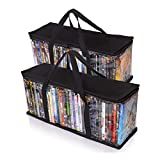 Besti Home DVD Storage Bags (2-Pack) Holds 80 Total Movies or Video Games, Blu-ray,   Convenient Travel Case for Media   Stackable, Easy to Carry