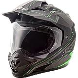 GMax GM11D Expedition Matte Black/Hi-Viz Green Dual Sport Helmet - Medium