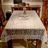 RubyShopUU JD1518 Beautiful Embroidery Lace Tablecloth Round Table Cloth Cover TV Covers Tea tablecloths Sofa Towel Refrigerator Towel Sale