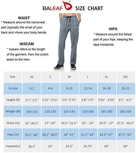 BALEAF Women's Running Thermal Fleece Pants Zipper Pocket Athletic Joggers Sweatpants Adjustable Ankle Winter Track Pants 7