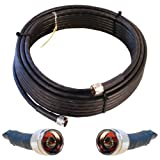 Wilson Electronics 50 ft. Black WILSON-400 Ultra Low Loss Coax Cable (N-Male to NMale)