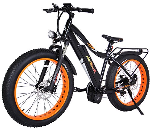 Addmotor MOTAN Electric Bikes Snow Beach Fat Ebikes 26Inch Electric Bicycles Bafang 48V1000W Middle Hub Brushless Motor 17.5AH Lithium Battery Electric Fat Bikes M-5800 E-bike (Orange)
