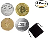Bitcoin Coin Collector's Set   Each Coin Comes w/ a Plastic Round Display Case   (COIN PACK)