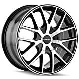 TOUREN TR60 (3260) BLACK Wheel MACHINED FACE Ring (0 x 7. inches /5 x 100 mm, 42 mm Offset)
