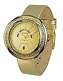Moog Paris Night & Day Vogue Women's Watch with Champagne Dial, Gold Genuine Leather Strap & Swarovski Elements - M45562-007