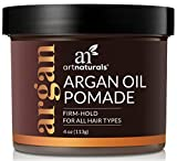 ArtNaturals Professional Argan Oil Pomade - (4 Oz/113g) - Strong Hold for All Hair Types – Natural Hair Styling Formula – Men and Women – Made in USA – Thick, Straight and Curly Hair