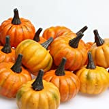 Factory Direct Craft Realistic Fall Mini Artificial Pumpkins - Package of 16 Pumpkins …