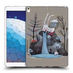 Official Oilikki Rabbit Animal Characters Soft Gel Case Compatible for iPad Air (2019)