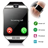 Smartwatch Unlocked Watch Cell Phone All in 1 Wireless Smart Watch with Camera Handsfree Call for Samsung LG HTC Motorola Huawei Xiaomi and Other Android Smartphones Men and Women Birthday Gift